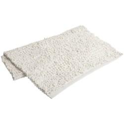 "Espalma Popcorn Loop Bathroom Rug - Cotton, 21x34"" in White"
