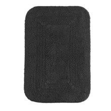 "Espalma Reversible Cotton Bath Rug - 21x34"" in Black - Closeouts"