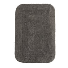 "Espalma Reversible Cotton Bath Rug - 21x34"" in Charcoal - Closeouts"