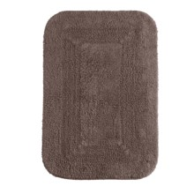 "Espalma Reversible Cotton Bath Rug - 21x34"" in Chocolate - Closeouts"
