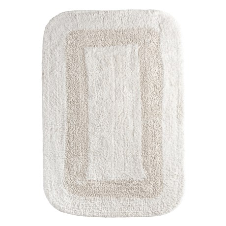 "Espalma Reversible Cotton Bath Rug - 21x34"" in Oyster"
