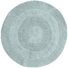 Espalma Reversible Round Bath Rug - Cotton in Ocean - Closeouts