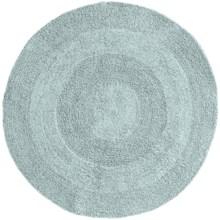 Espalma Reversible Round Bath Rug - Cotton in Ocean - Closeouts