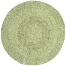 Espalma Reversible Round Bath Rug - Cotton in Sage - Closeouts