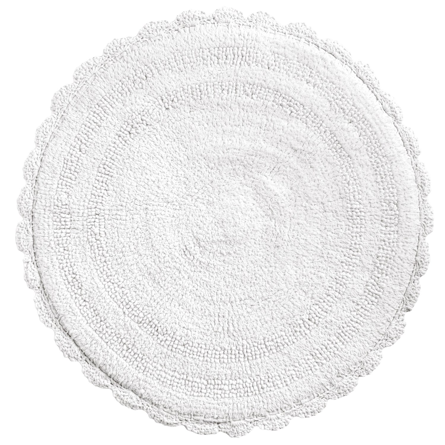 Espalma Round Crochet Border Bath Rug Reversible 24
