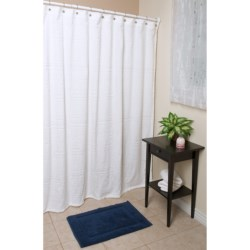 "Espalma Terry Shower Curtain - 72x72"", Cotton in Tub & Sink"