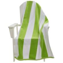 Espalma Tropical Cabana Stripe Beach Towel - Cotton Velour in Lime - Overstock