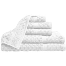 Espalma Waffle-Weave Bath Towel Set - 6-Piece in White - Overstock
