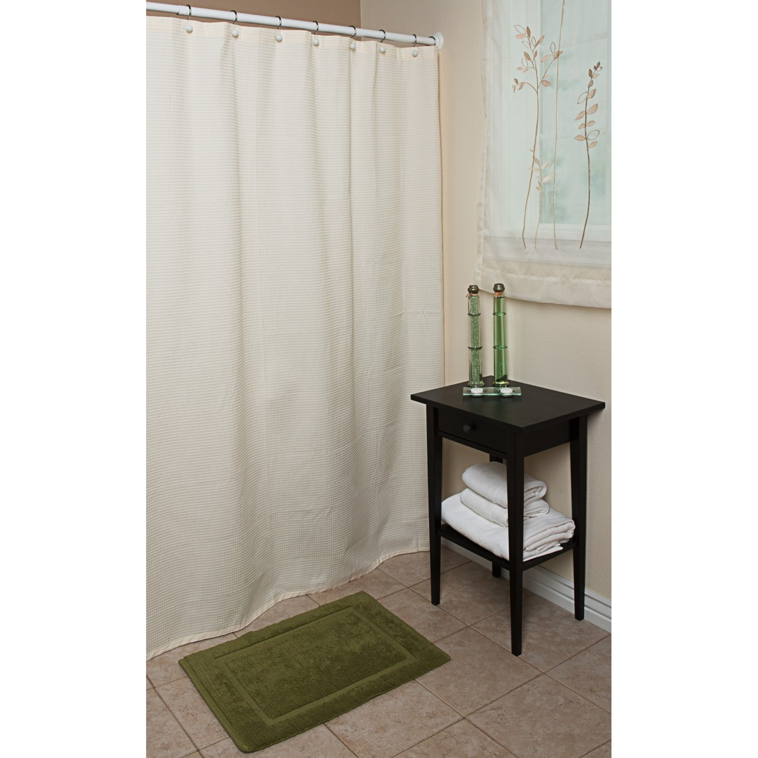 "Espalma Waffle Weave Shower Curtain - 72x72"", Cotton - Save 49"