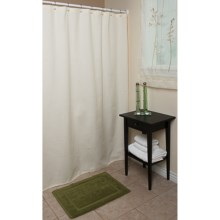 "Espalma Waffle Weave Shower Curtain - 72x72"", Cotton in Natural - Overstock"