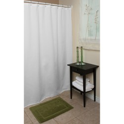 "Espalma Waffle Weave Shower Curtain - 72x72"" in White"