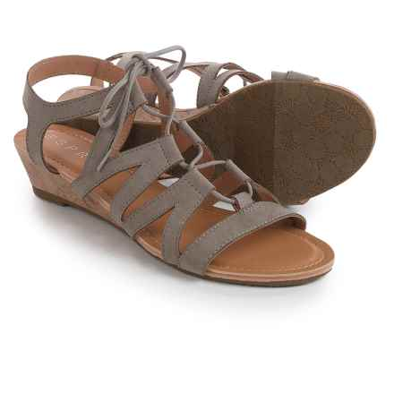 ESPRIT Carey Gladiator Sandals (For Women) in Elephant - Closeouts