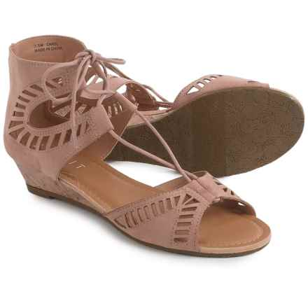 ESPRIT Carol Sandals - Faux Leather (For Women) in Blush - Closeouts
