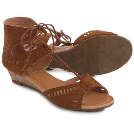 ESPRIT Carol Sandals - Faux Leather (For Women) in Cognac - Closeouts
