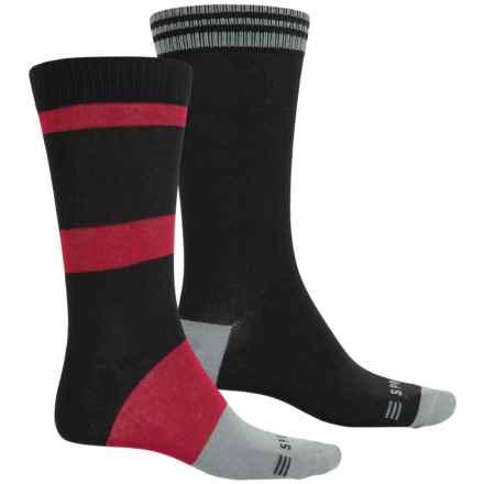 Esprit Dress Fashion Socks - 2-Pack, Crew (For Men) in Black 1 - Closeouts