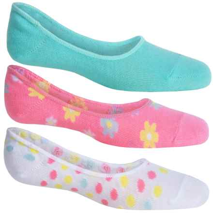ESPRIT Liner Socks - 3-Pack, Below the Ankle (For Girls) in Pink Lemonade/White Dots/Blue - Closeouts