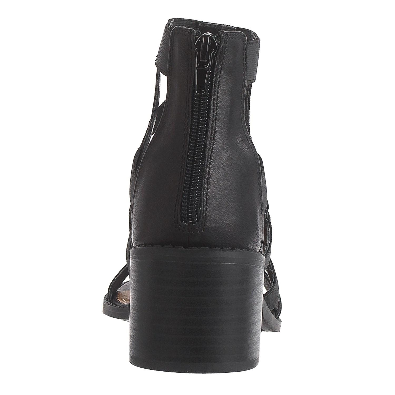 Black esprit sandals - Esprit Luna Caged Sandals Vegan Leather For Women