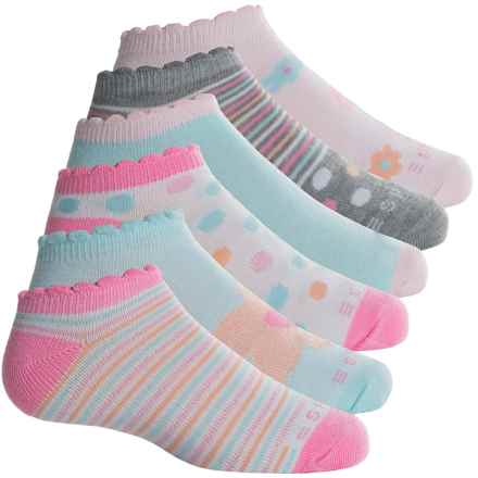 ESPRIT No-Show Socks - 6-Pack, Below the Ankle (For Girls) in White/Pink/Blue/Hearts - Overstock