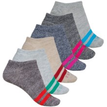 ESPRIT No-Show Socks - 6-Pack, Below the Ankle (For Women) in Black Multi Stripe - Closeouts