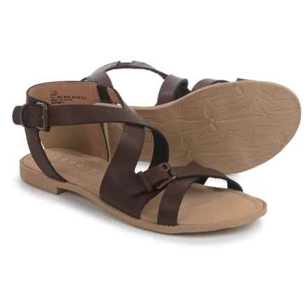 ESPRIT Sunny Sandals - Vegan Leather (For Women) in Dark Brown - Closeouts