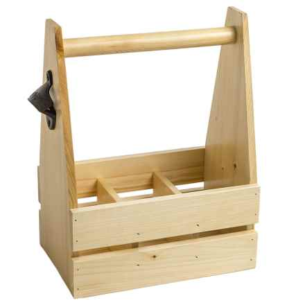 Esschert Design Bottle Crate with Opener in Pine - Closeouts