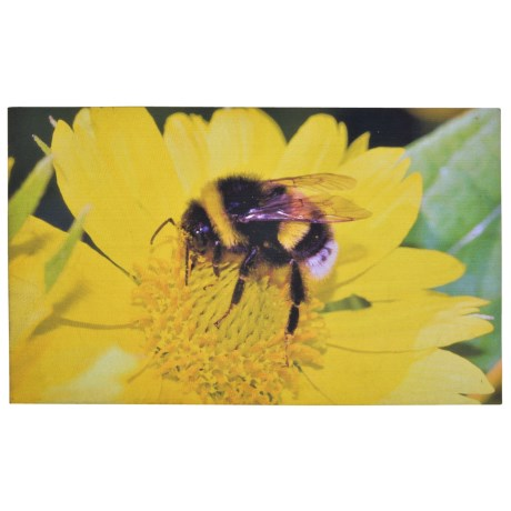 Esschert Design Bumble Bee Recycled Rubber Doormat - 18x30""