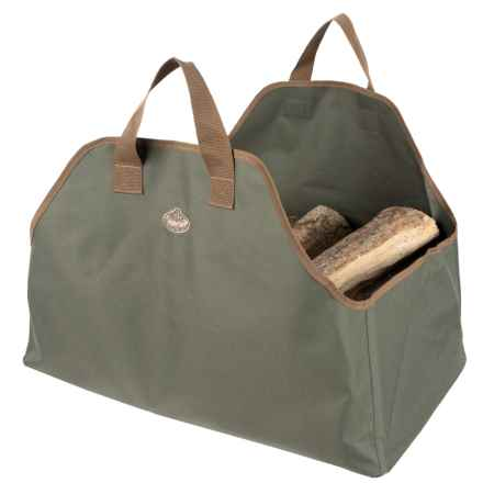 Esschert Design Canvas Log Carrier in Green - Closeouts