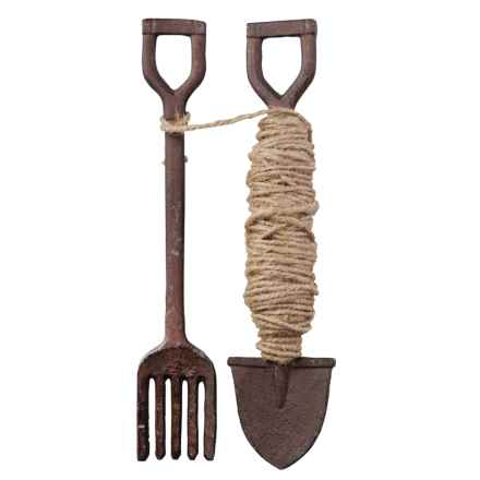Esschert Design Cast Iron Fork/Shovel Garden Tools in Antique Brown - Closeouts