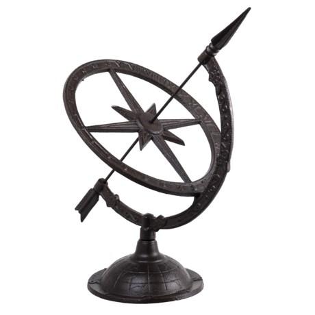 Esschert Design Cast Iron Sundial - Large in Antique Brown