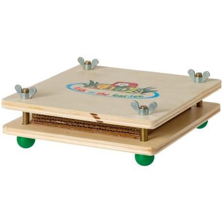 Esschert Design Children's Wooden Flower Press in Natural