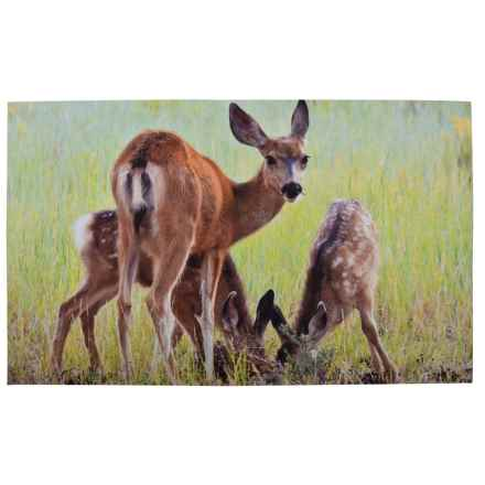 "Esschert Design Deer Recycled Rubber Doormat - 18x30"" in See Photo - Closeouts"