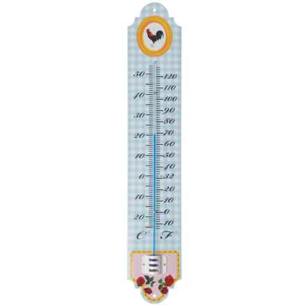 "Esschert Design Enamel Thermometer - 20"" in Rooster - Closeouts"