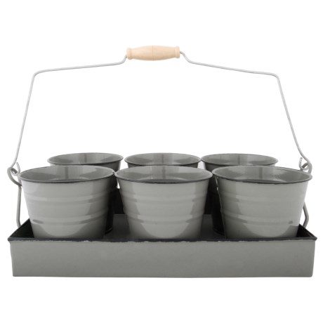 Esschert Design Flower Pot Tray Set of 6