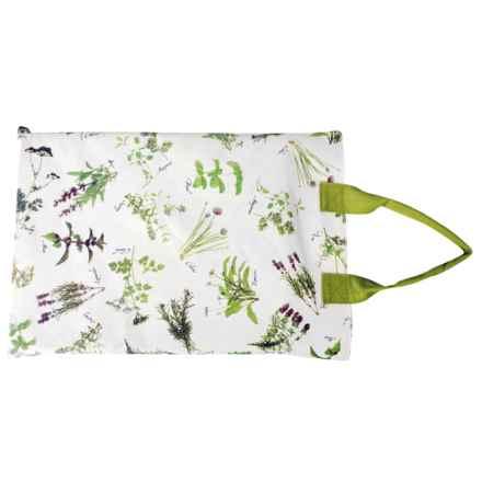 Esschert Design Herb Print Garden Kneeling Pad in White - Closeouts