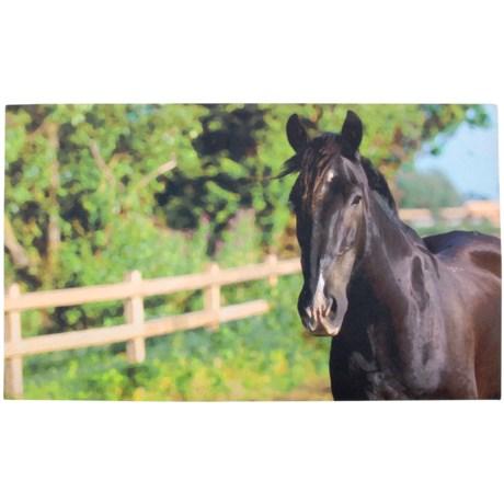 """Esschert Design Horses Recycled Rubber Doormat - 18x30"""" in See Photo"""
