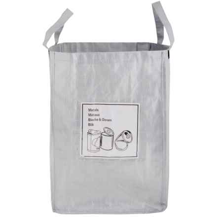 Esschert Design Metal Recycling Bag with Touch-Fasten Tabs in Gray - Closeouts