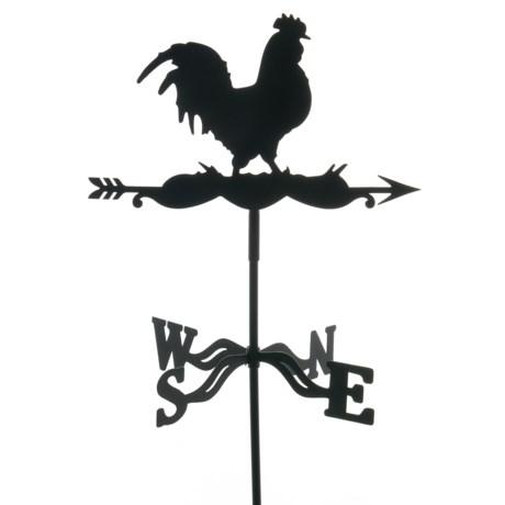 Esschert Design Metal Rooster Weather Vane in Brown