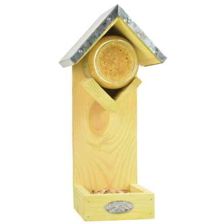 Esschert Design Peanut Butter Birdhouse with Seed Feeder in See Photo - Closeouts