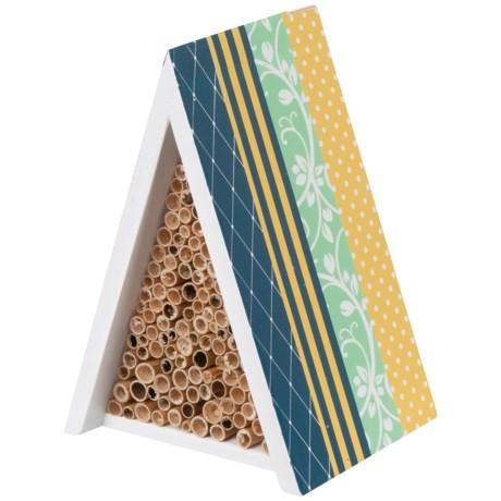 Esschert Design Printed Bee House in Blue Multi
