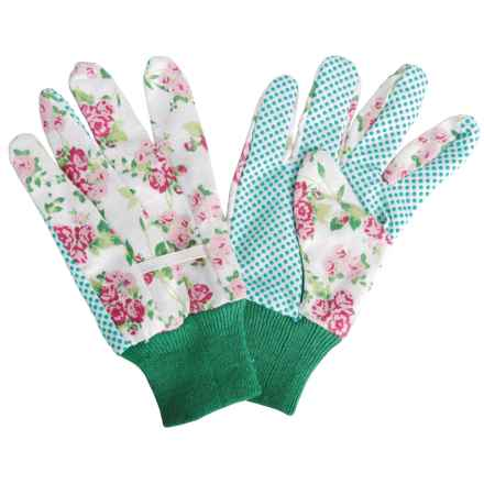 Esschert Design Rose Print Garden Gloves in White Multi - Closeouts