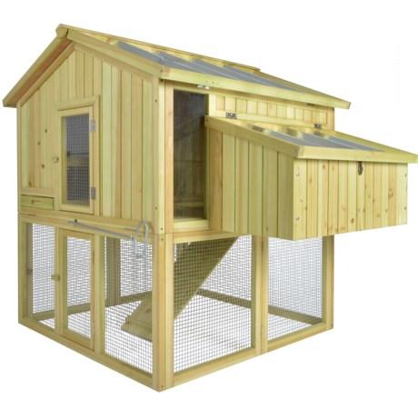 Esschert Design Wood Chicken Coop in Natural