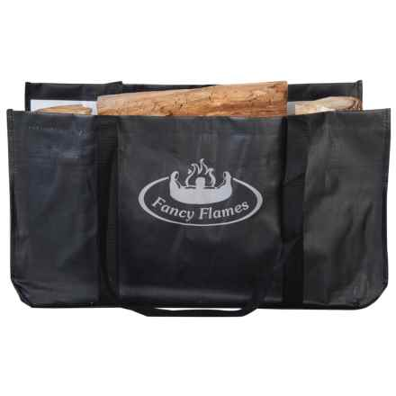 Esschert Design Wood Log Carrier in Black - Closeouts
