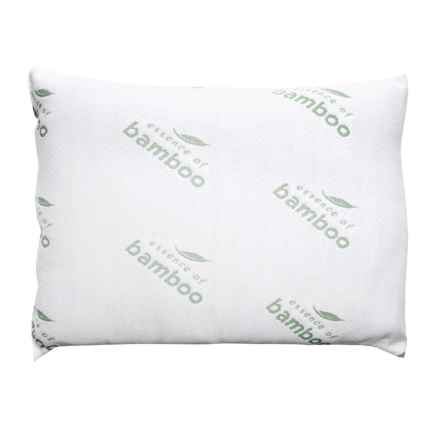 Essence of Bamboo Spa Bed Pillows - Jumbo, Twin Pack in White - Closeouts