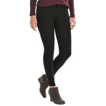 Essential Ankle Leggings - Stretch Cotton Jersey (For Women) in Black - 2nds