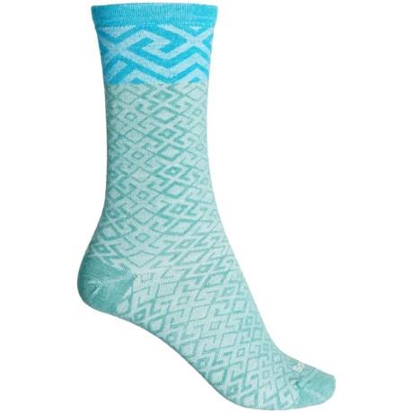 Essential Comfort Mosaic Socks - Merino Wool, Crew (For Women) - MINERAL (M/L ) -  Sockwell