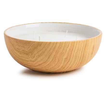 """Essenza Citronella Candle - Ceramic Bowl, 8"""" in Brown - Closeouts"""