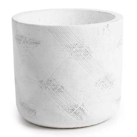 Essenza Patterned Citronella Candle in White - Closeouts