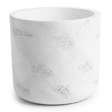 Essenza Patterned Citronella Candle in White