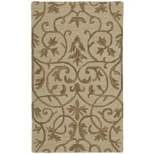 Estes Collection Hand-Tufted Virgin Wool Area Rug - 8x10' in Trellis Brown - Closeouts