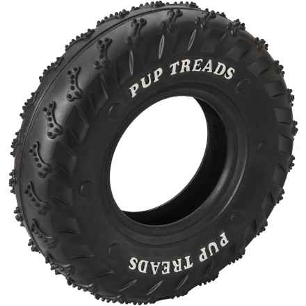 """Ethical Pet Pup Treads Rubber Tire Dog Toy - 4"""" in Black - Closeouts"""